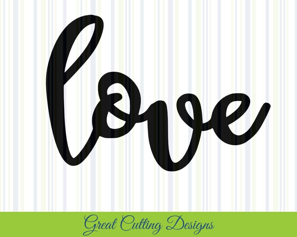Download Love SVG Cut File love DXF cut file svg cut Cricut svg