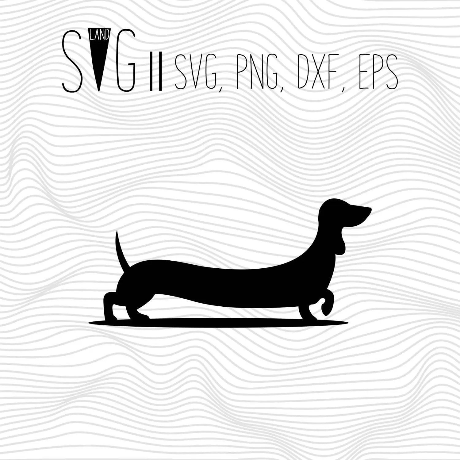 Dachshund Svg Dog Svg Stencils Animal Silhouette Svg Svg