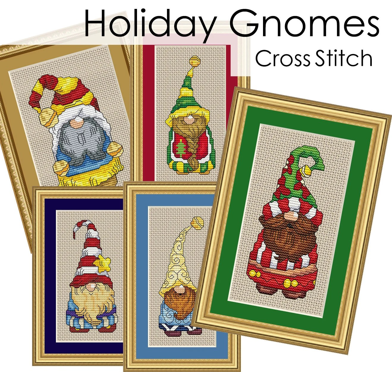 Holiday Gnomes Complete Collection Cross Stitch Patterns Fun