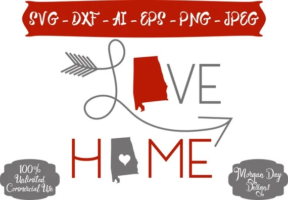 Download Alabama Home SVG Alabama SVG Alabama Love SVG Alabama