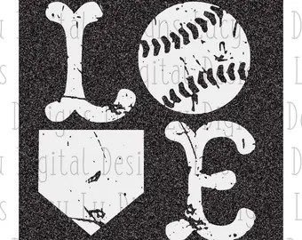 Download Svg love baseball   Etsy