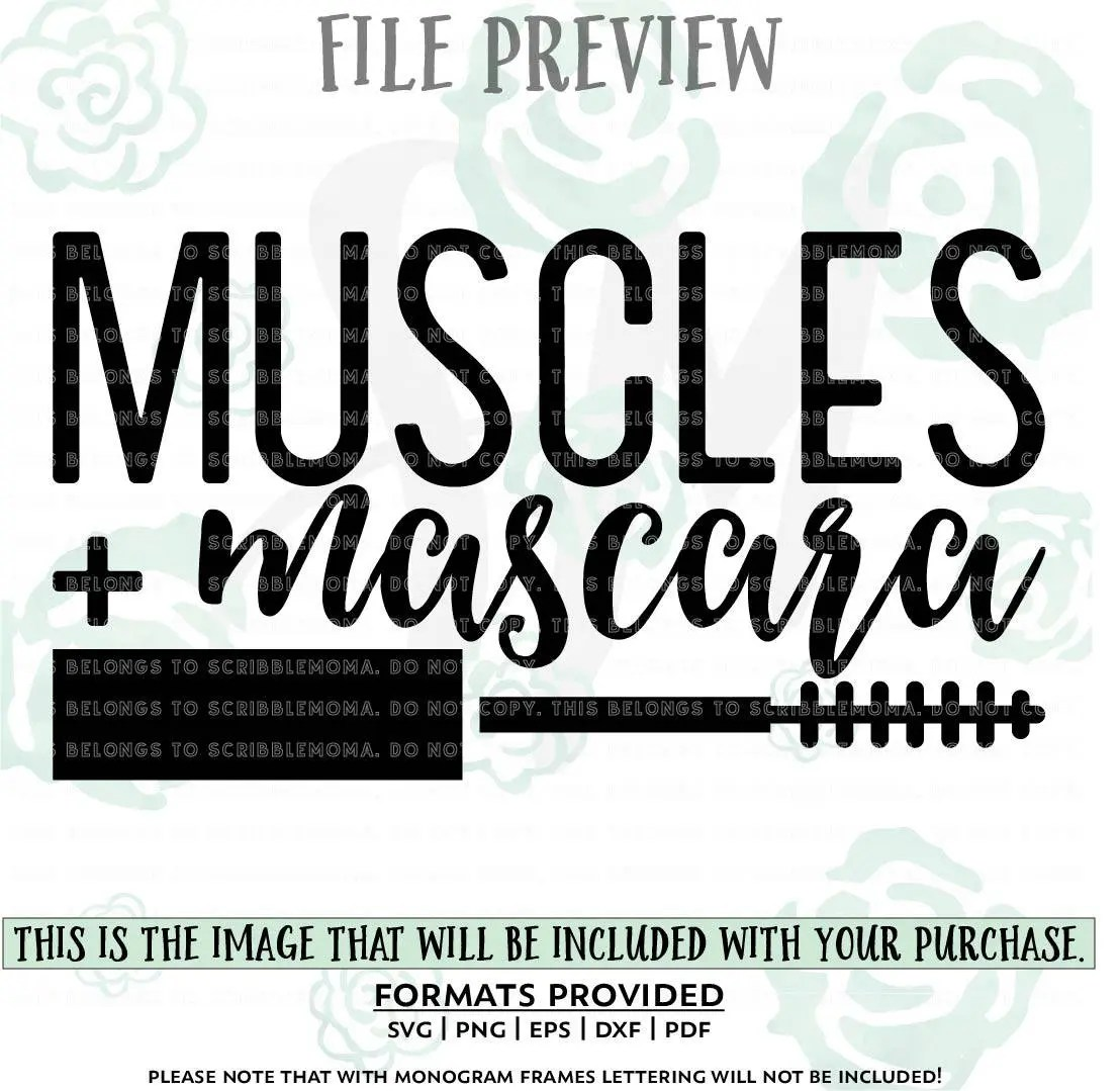 Muscles And Mascara Vector