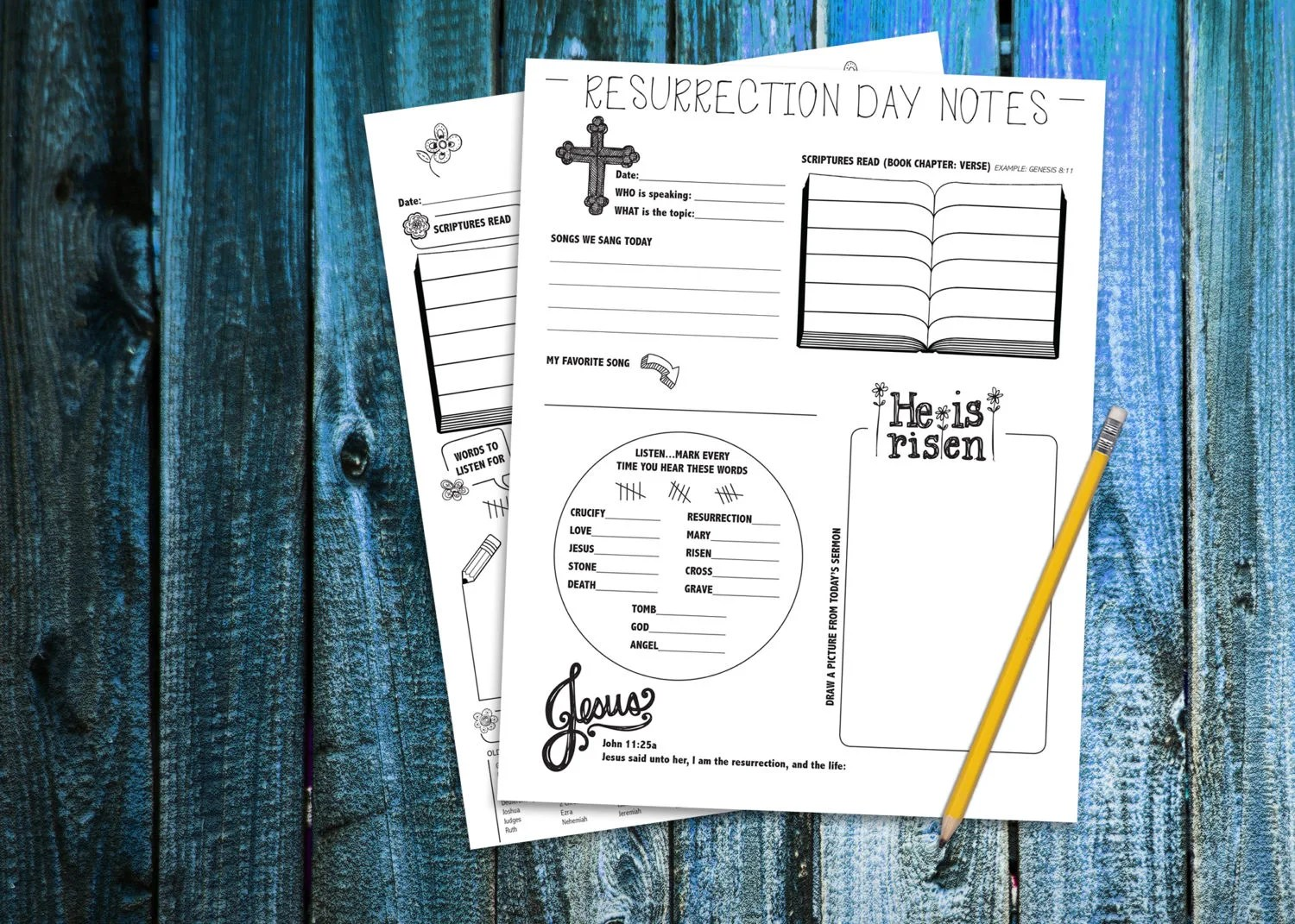 Children S Resurrection Spring Sermon Notes