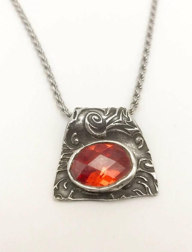 Stunning Fire Opal Pendan...