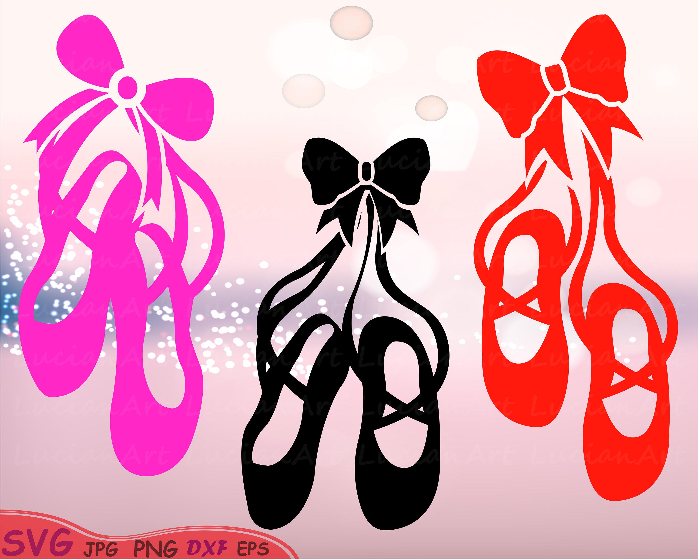 Ballet Shoes Silhouette Svg Cutting Files Digital Clip Art