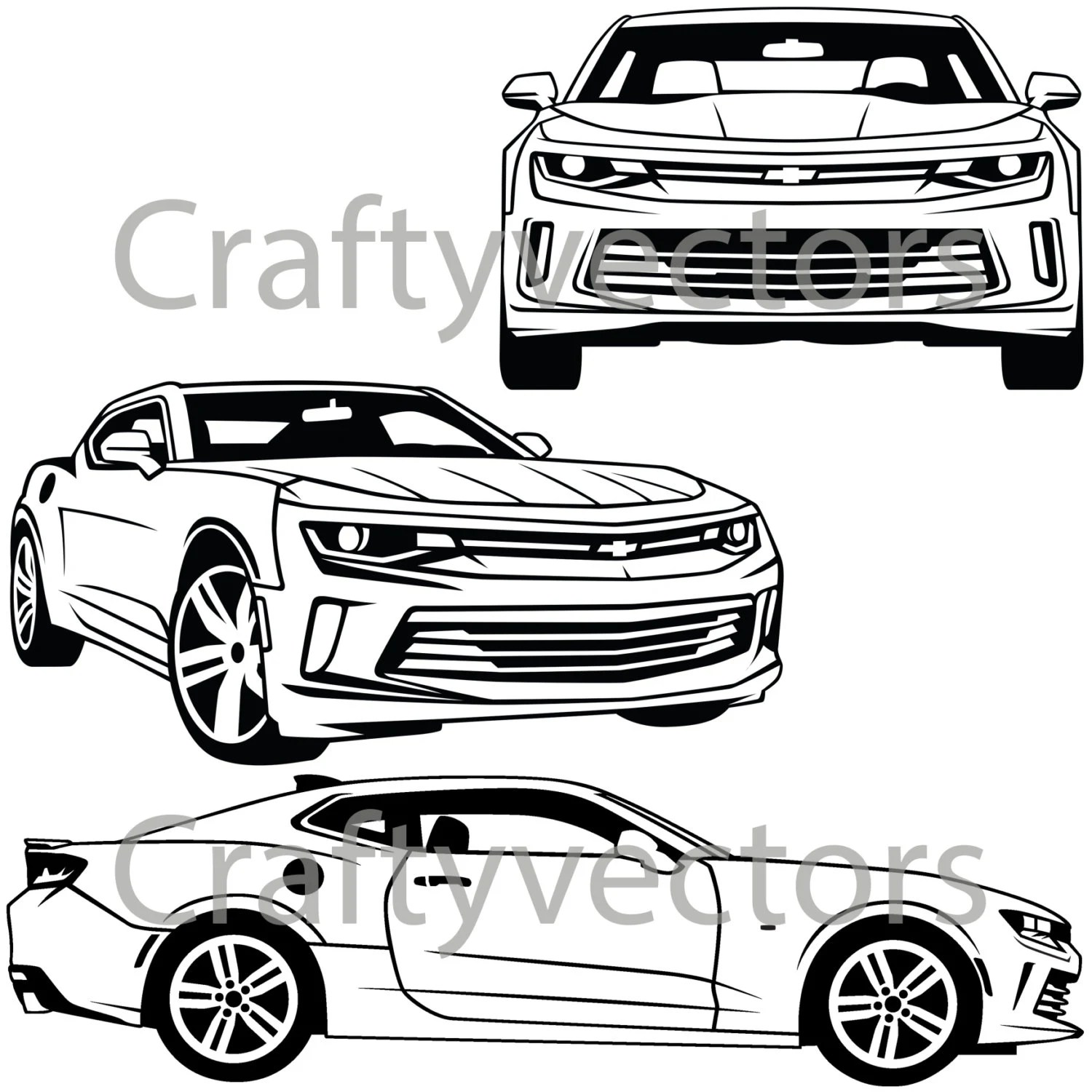 Chevrolet Camaro Vector Svg Cut File