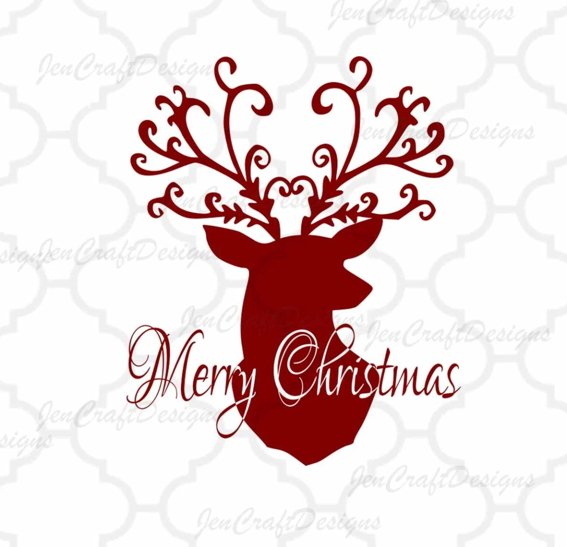 Download Christmas Reindeer SVG,EPS Png DXF,digital download files ...