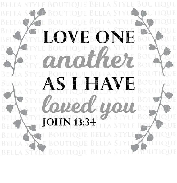 Download Love One Another svg cut file