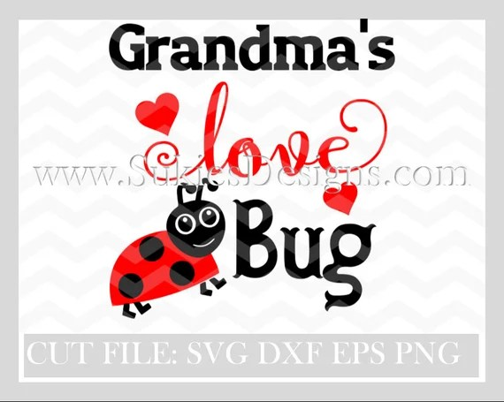 Download Grandma's Love Bug SVG DXF PNG Files for Cricut and