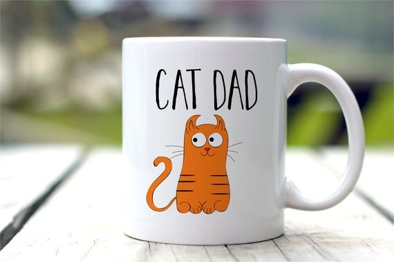 Cat Dad Mug, Cat Lovers Gift, Cat Coffee Mug