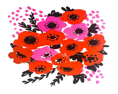 Anemone Pink Screenprint...