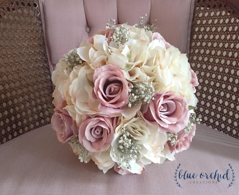 Bridal Bouquet Rustic Bouquet Dusty Rose Bouquet Baby's