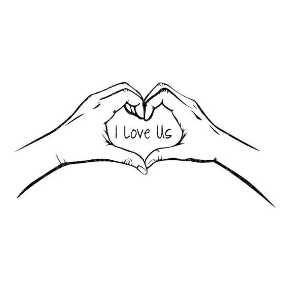 Download SVG I Love Us Hear Hands Hands Heart Wedding Decal SVG