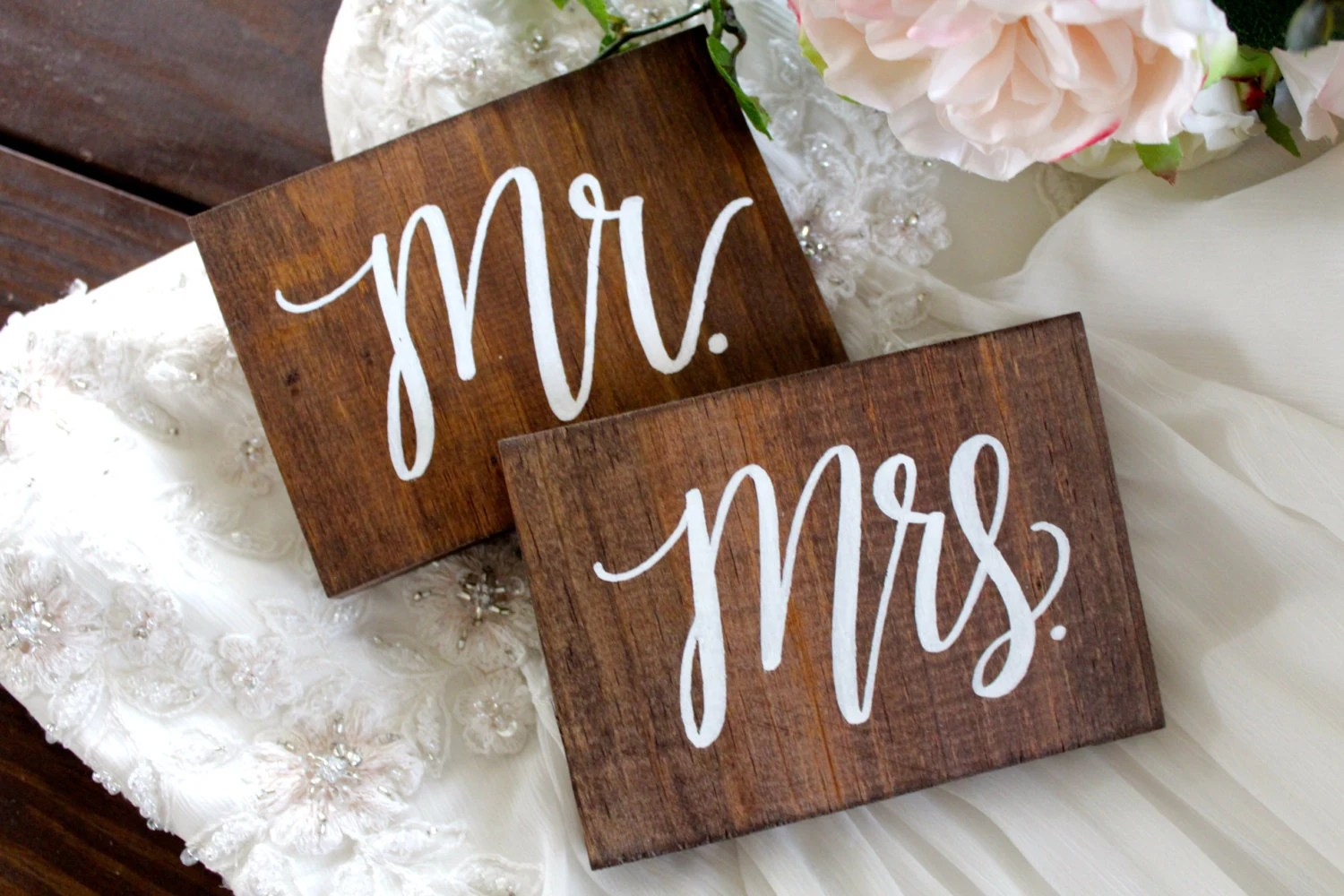 Mr And Mrs Sweetheart Table Signs Rustic Wedding Signs Mr