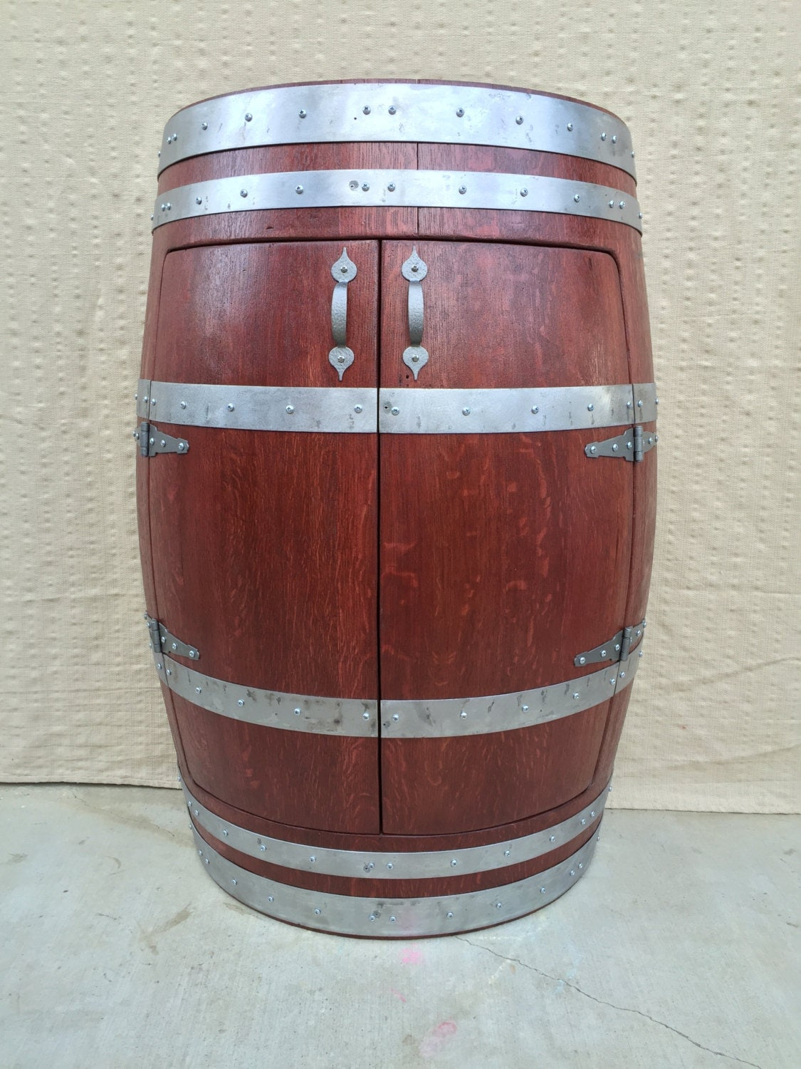 Half Oak Wine Barrel Cabinetwine Barrel Furnitureliquor