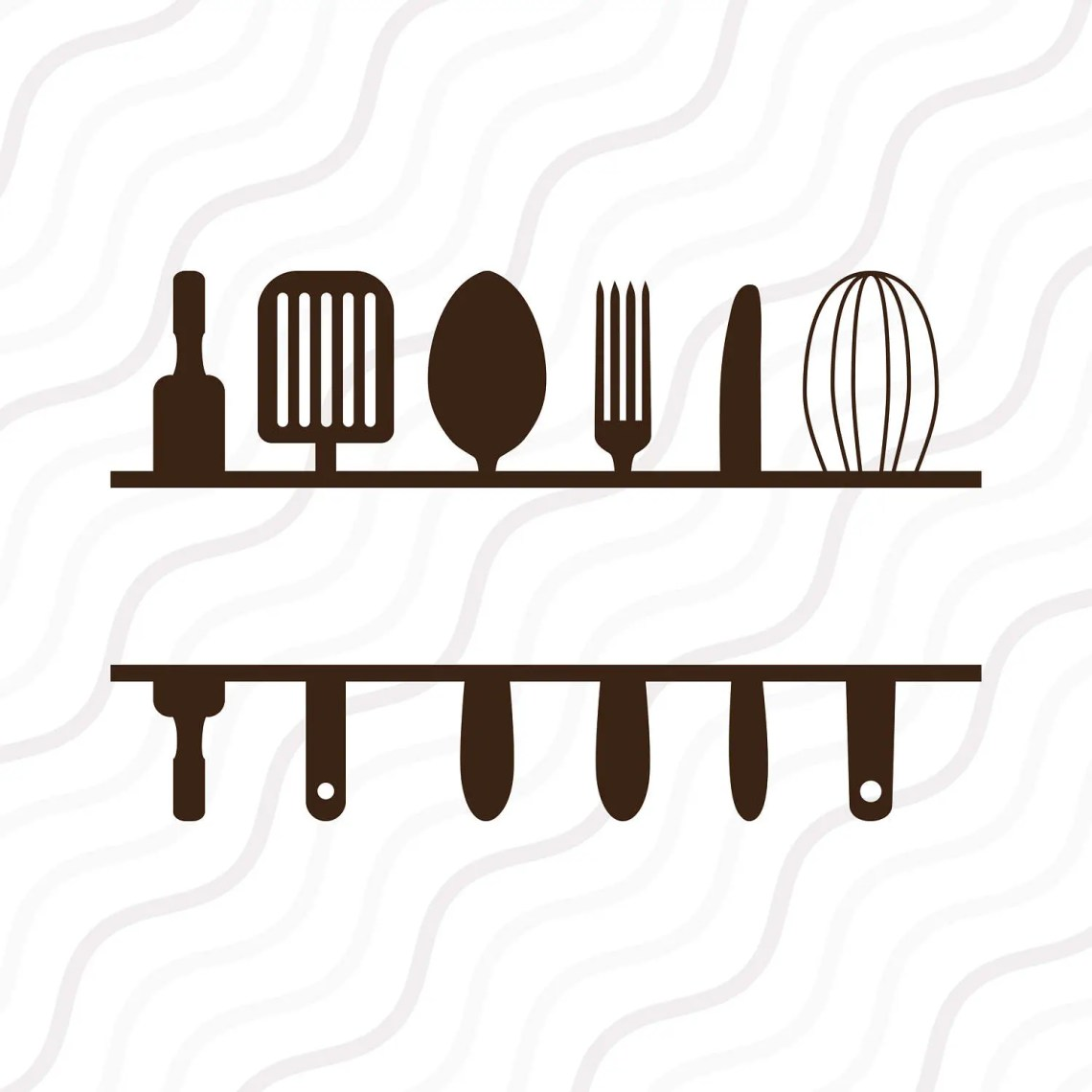 Download Split Kitchen SVG Kitchen SVG Kitchen Monogram SVG Cut table