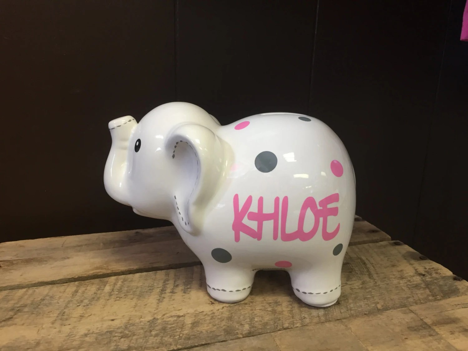 Ceramic Bank Personalized Piggy
