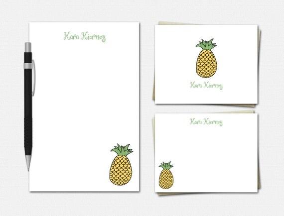 Pineapple Stationery Set