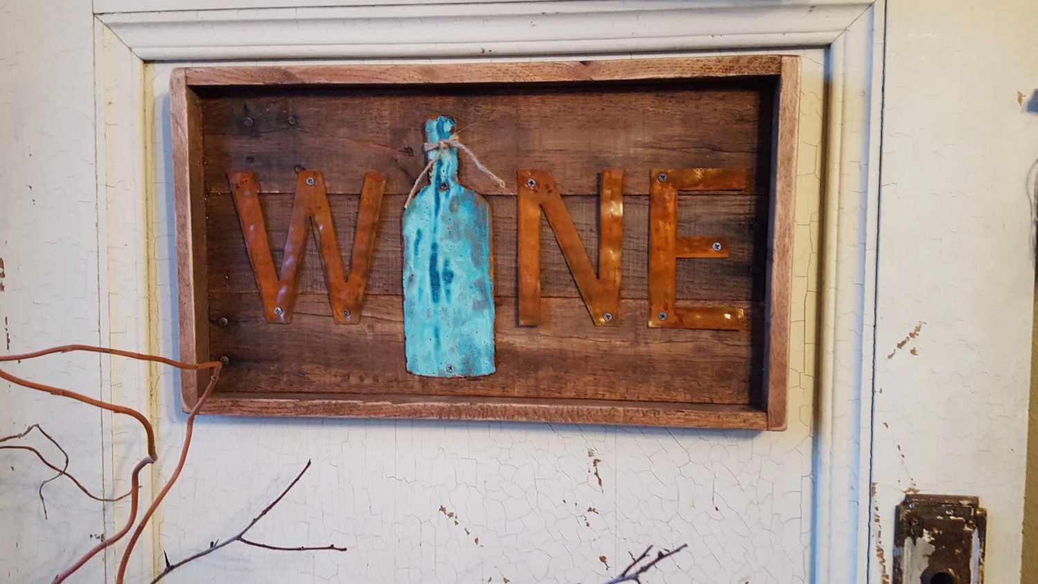 Rustic Wall Decor Rustic Wine Sign Pallet Board Sign By
