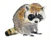 Raccoon - Painting. Print...