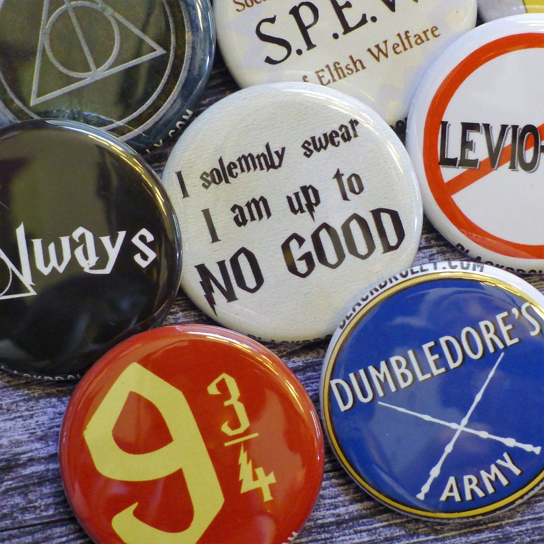 Harry Potter buttons 1.25...