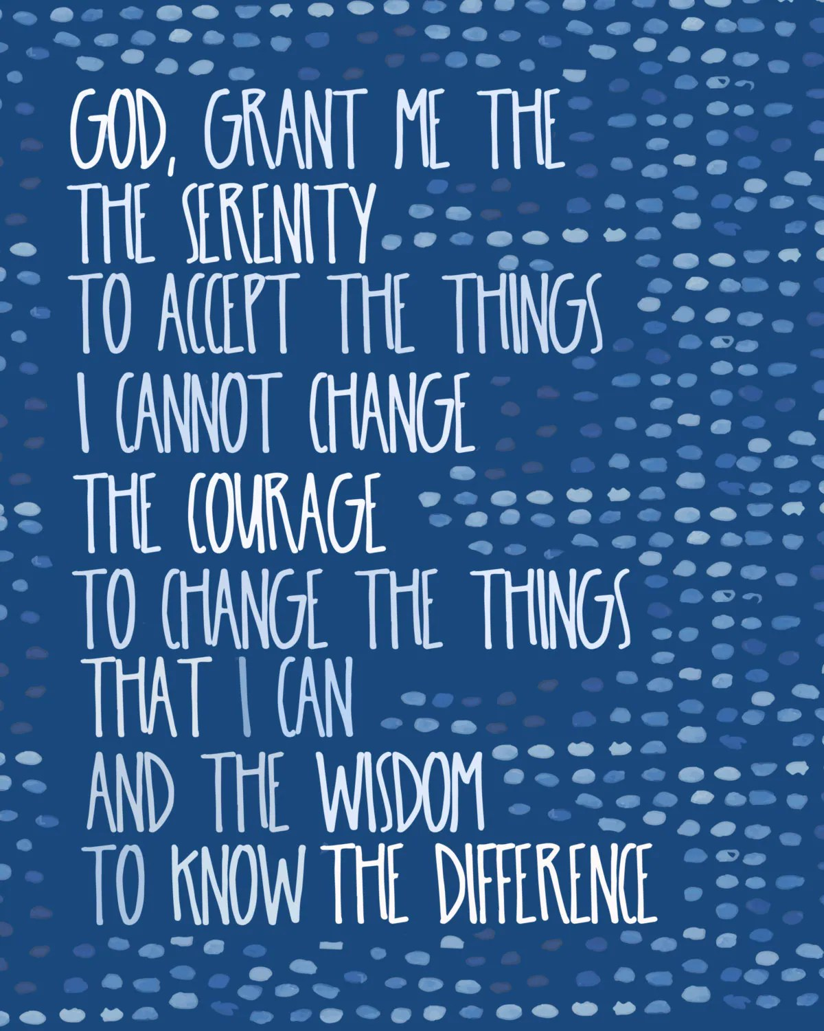 Serenity Prayer 12 Step Recovery 12 Step Motivational Quote