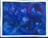 Blue Galaxy 1watercolor p...
