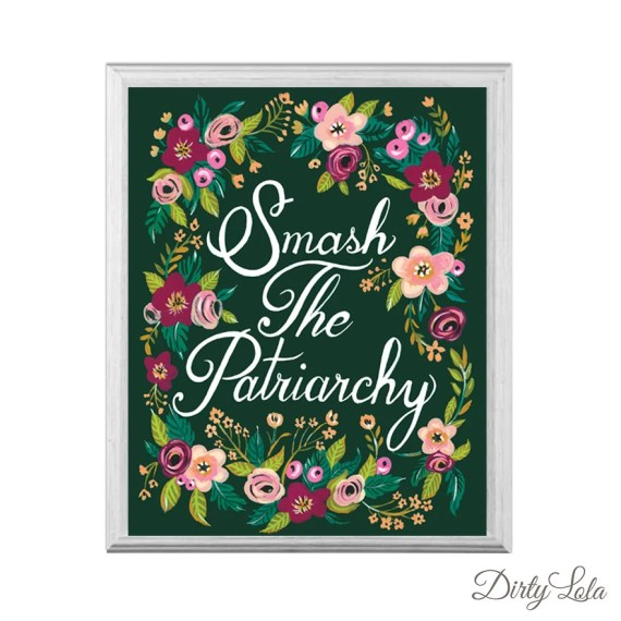Smash the Patriarchy - Art Print - Painting - Art - Floral - Folk - Feminist - Revolution
