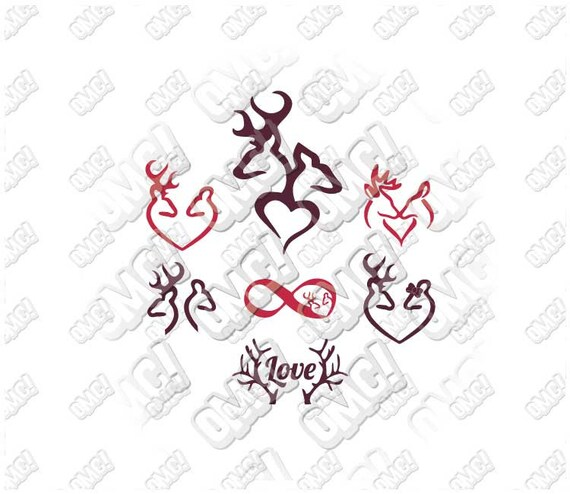 Download Browning Deers in Love svg dxf eps jpeg layered cutting files