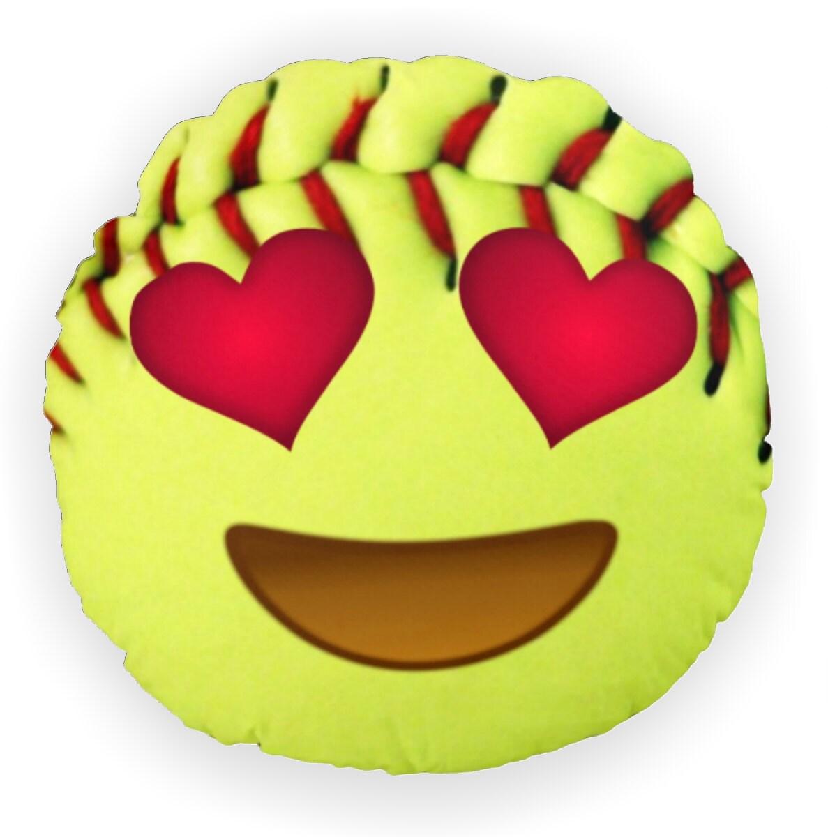 Softball Emoji Pillow Emoji Softball Bedroom Decor Softball