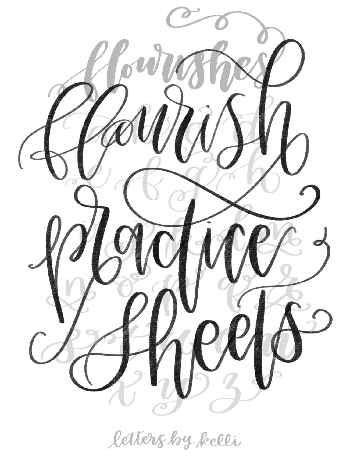 Sale Printable Practice Sheets Flourishes Hand Lettering