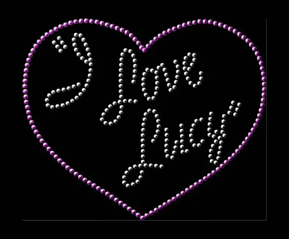 Download I Love Lucy Rhinestone Pattern SVG Downloadable Clipart for