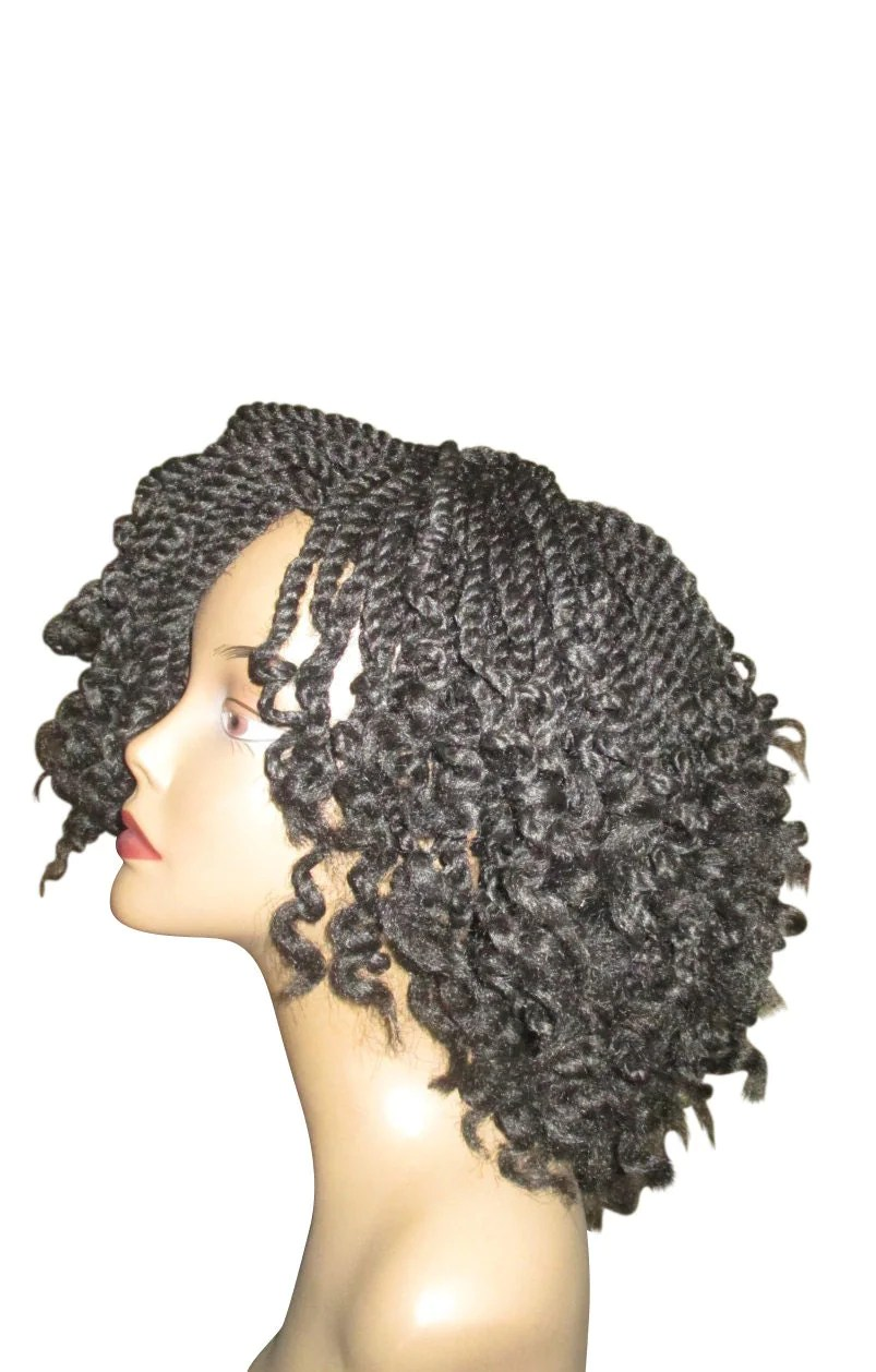 Essence Wigs Curly Kinky Twists Crochet Wig Black Natural