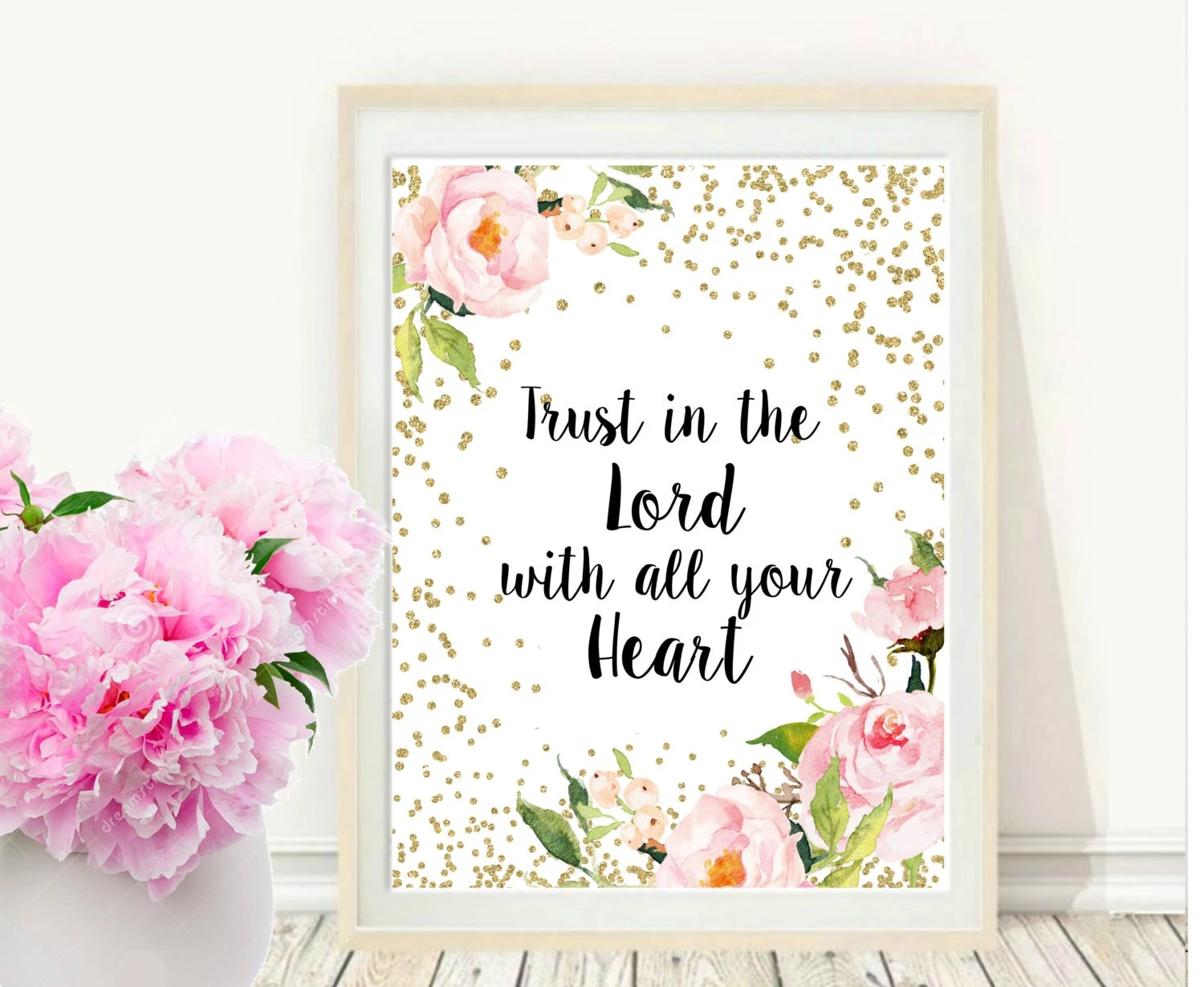 Trust In The Lord With All Your Heart Scripture Printable