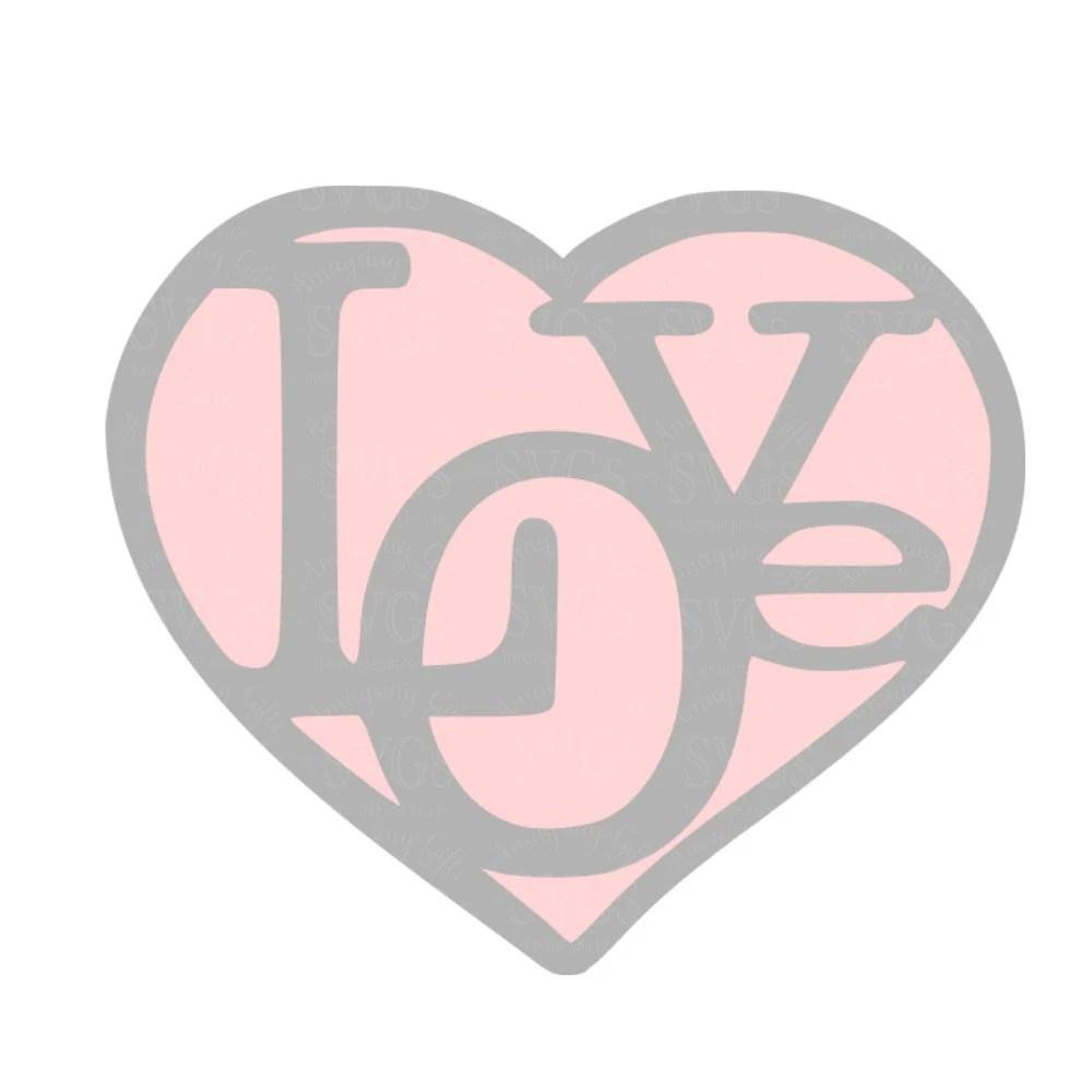 Download SVG Love Heart DXF Valentine Heart Love Wedding
