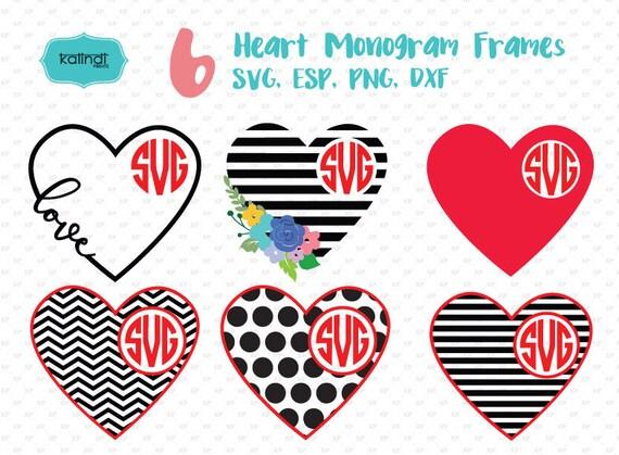 Valentine Svg Valentine Monogram Svg Heart Svg Heart
