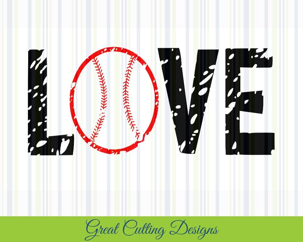 Download Baseball SVG Cut File love svg DXF distressed svg cut file