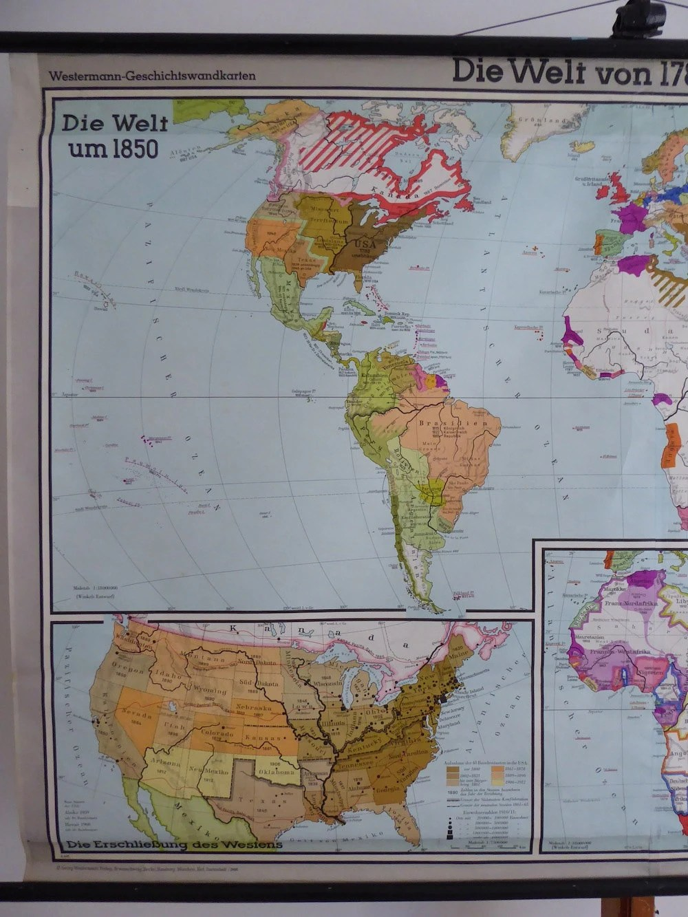 Very Goods   Large Original Vintage World Map The World from 1783 1914