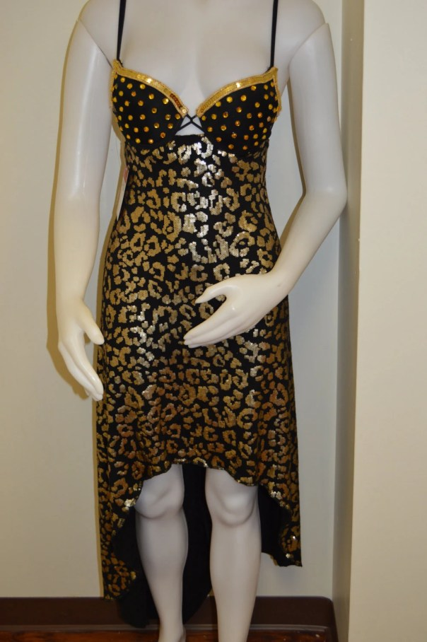 Black and gold sequin leo...