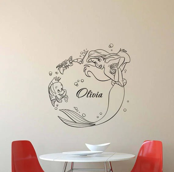 Personalized Little Mermaid Wall Decal by JuliaDecals