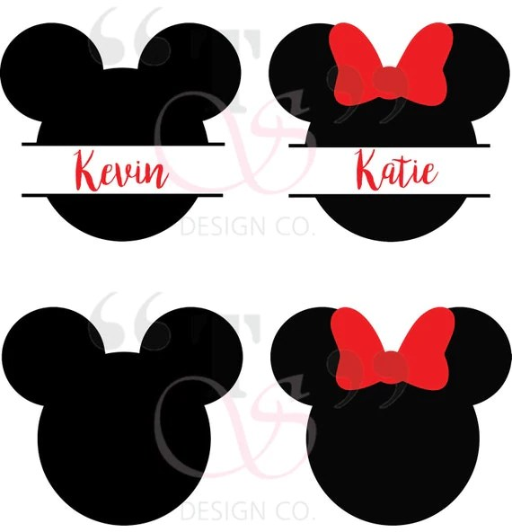Download Disney Mickey Minnie svg file for Cricut Silhouette and