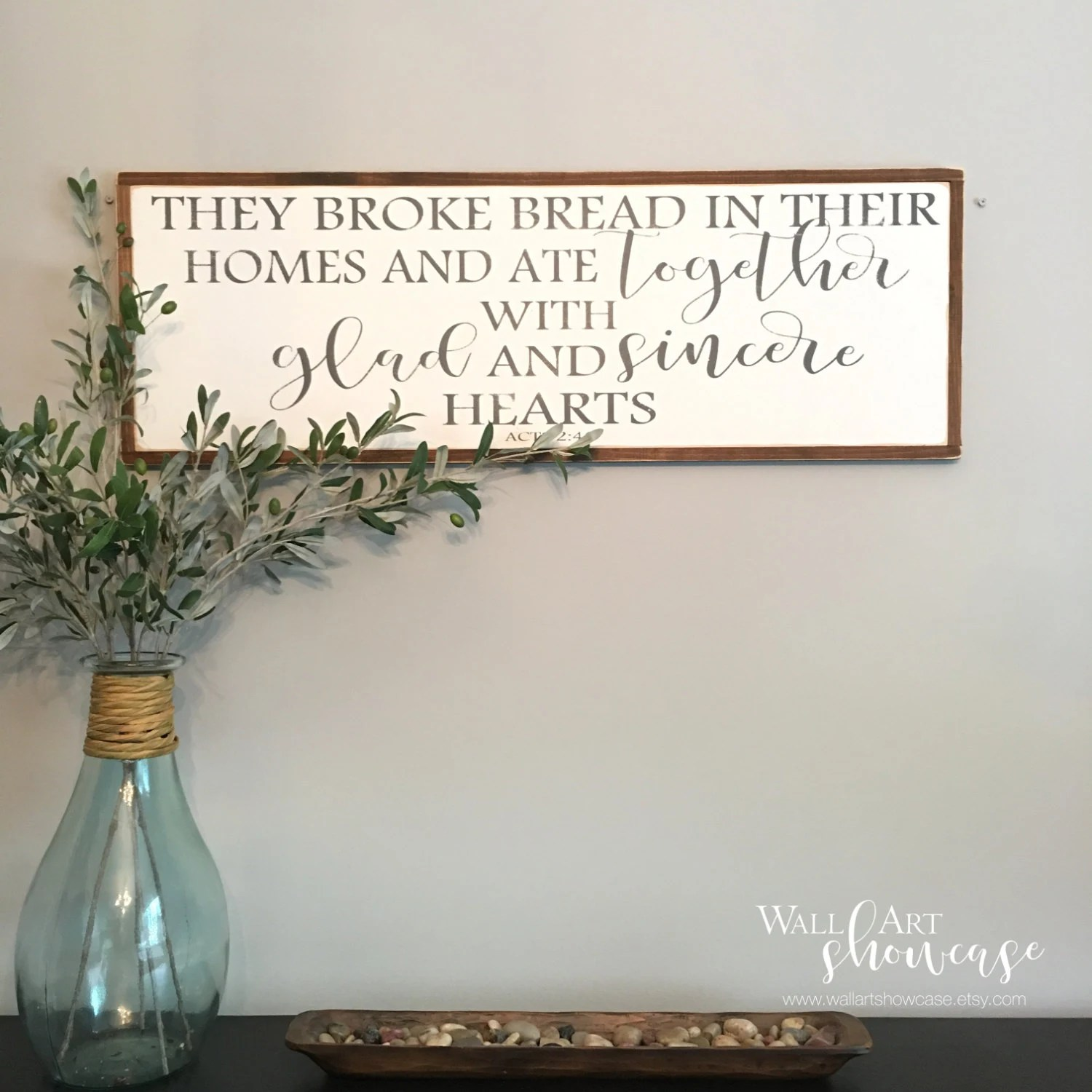 They Broke Bread In Their Homes And Ate By Wallartshowcase