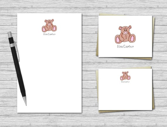 Teddy Bear Stationery Set for Kids