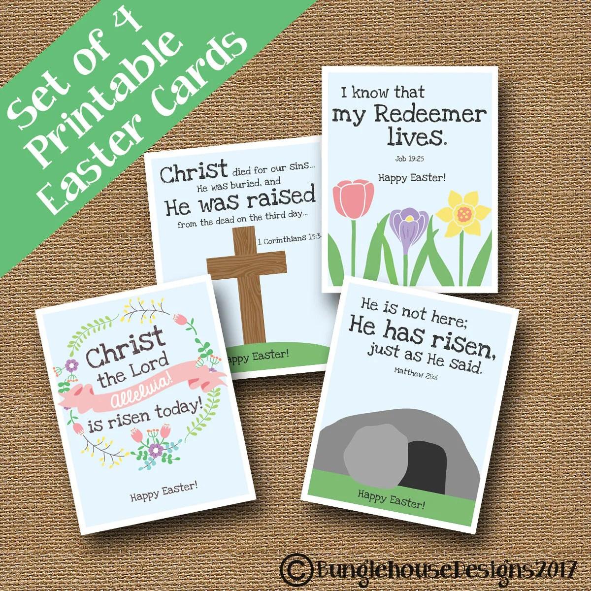 Kids Printable Christian Easter Cards Diy Printable