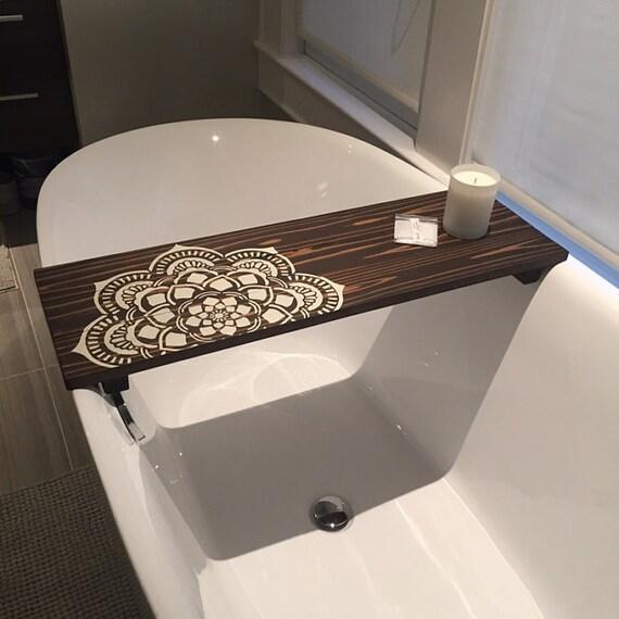 Bath Caddy Flower Mandala Caddy CUSTOMIZE BATH Caddy
