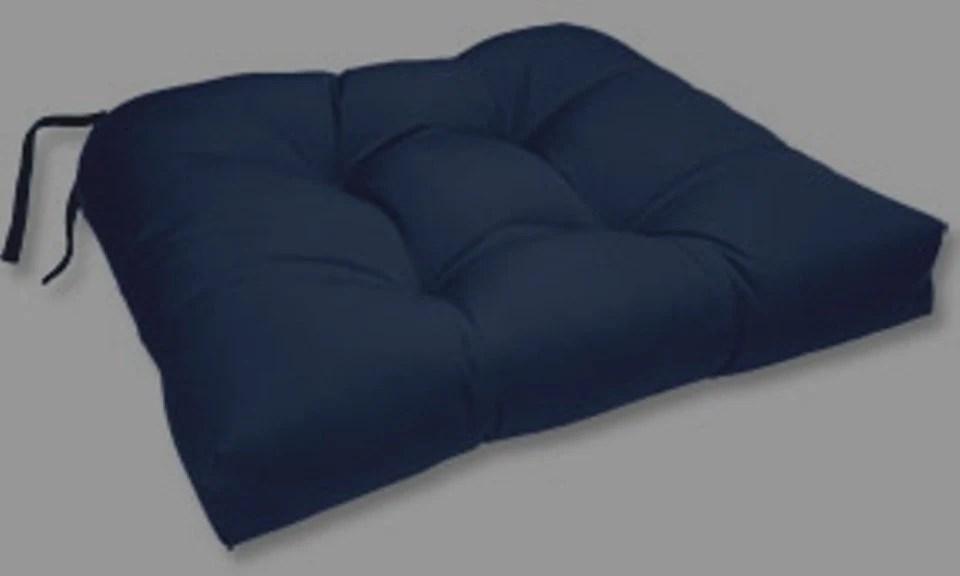 Navy Blue Tufted Chair Cushions Seat Cushions Bar By
