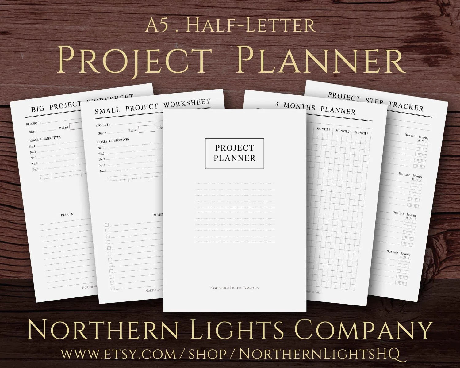 Printable Project Planner Minimalist Planner By
