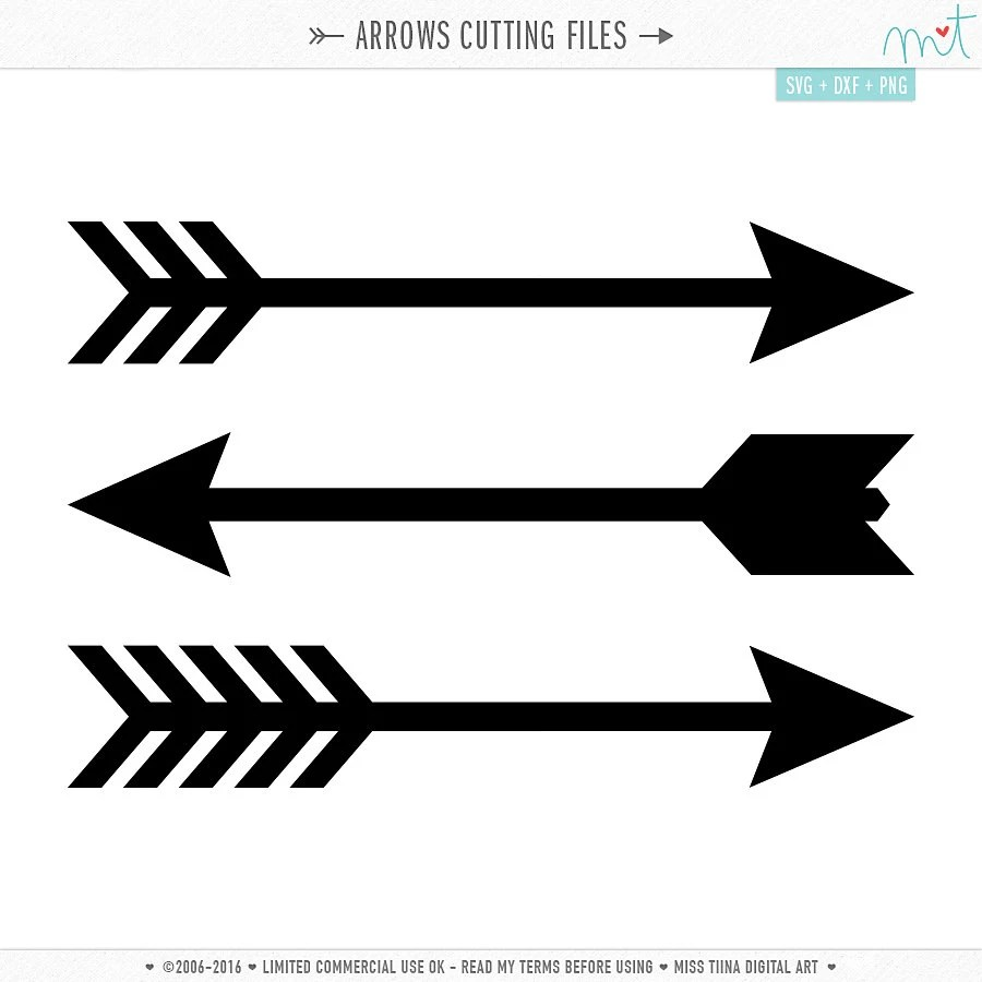 Download Arrows SVG DXF Digital Die Cut Files for cutting machines