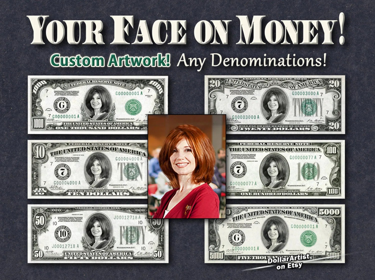 Your Face On Money Digital Artwork Only In Format