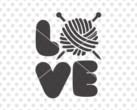 Download I Love Knitting SVG DXF Cutting File Love To Knit Svg Dxf
